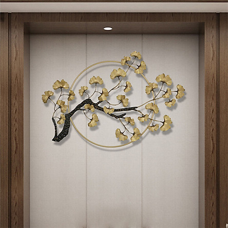Phù điêu trang trí - phù điêu cây bạch quả trang trí gắn tường( kt 120x80cm)
