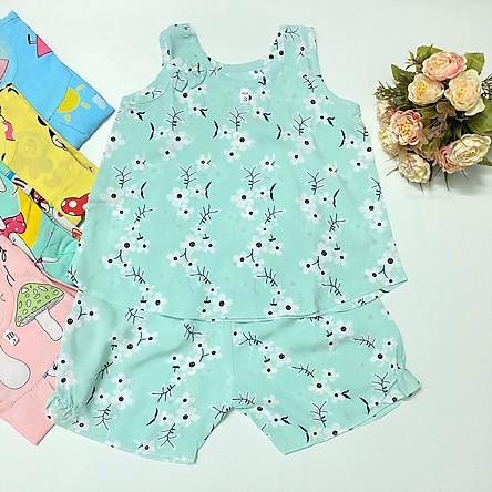 Combo 2 bộ quần áo Sát Nách Tôn Lanh 2 da loại 1 TomTom Baby cho bé gái, hàng Việt Nam chất lượng, chính hãng