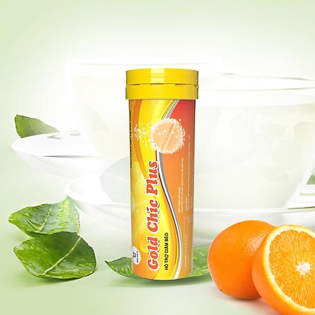 Viên sủi hỗ trợ giảm cân vị cam Dilocy Gold Chic Plus - Chiết xuất từ thảo mộc thiên nhiên hỗ trợ giảm cân, phân giải mỡ an toàn hiệu quả, giảm thèm ăn.