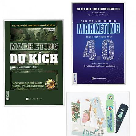 Combo marketing du kích +marketing 4.0 (tặng kèm bookmark)