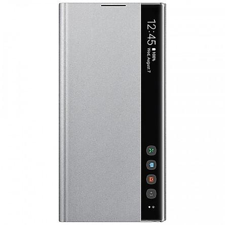 Bao da Clear View cho Samsung Galaxy note 10 màu xám bạc - hàng nhập khẩu