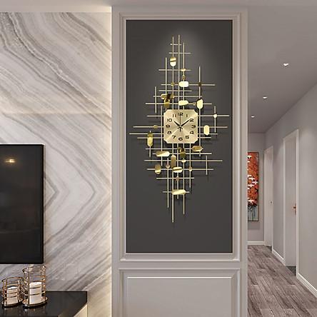 Đồng hồ phù  điêu - Đồng hồ treo tường dáng dọc(90x55cm)