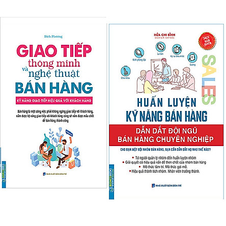 Combo Giao Tiếp Thông Minh Và Nghệ Thuật Bán Hàng (Bìa Mềm)+Huấn Luyện Kỹ Năng Bán Hàng - Dẫn Dắt Đội Ngũ Bán Hàng Chuyên Nghiệp
