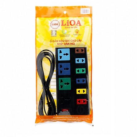 Ổ cắm điện 10 lỗ đa năng (6 lỗ 2, 4 lỗ 3) Lioa 4D6S32
