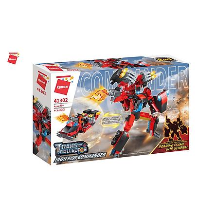 Đồ chơi xếp hình, lắp ráp lego Qman – Người máy chiến binh biến hình Qman 41301/41302/41303/41304