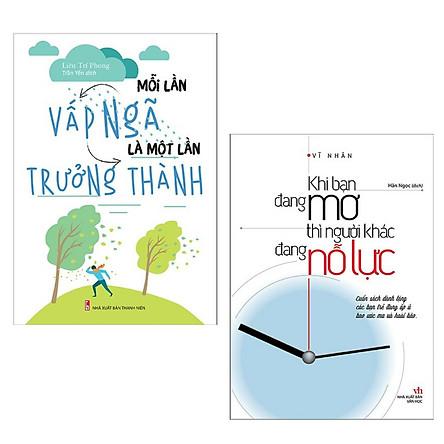 Combo Kỹ Năng Sống Dành Cho Tuổi Trẻ: Mỗi Lần Vấp Ngã Là Một Lần Trưởng Thành + Khi Bạn Đang Mơ Thì Người Khác Đang Nỗ Lực (2 Cuốn Sách Tạo Cảm Hứng Hay Nhất Trong Tháng / Tặng Kèm Bookmark Happy Life)
