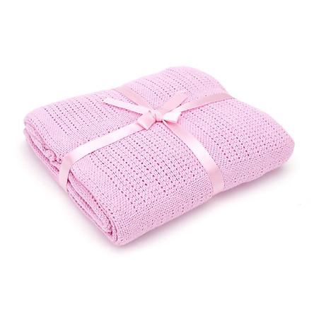 COMBO Chăn lưới chống ngạt cho bé + 01 khăn tắm vải mùng trắng 4 lớp 80x80 cm ( Tặng kèm 02 móc chịu lực )