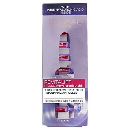 L'Oreal Paris Revitalift Filler [+Hyaluronic Acid] 7 Day Replumping Ampoules 7 x 1.3ml