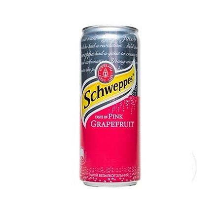 Schweppes Taste of Pink Grapefruit 330ml - Nước ngọt có ga hương vị bưởi đỏ SCHWEPPES 330ml