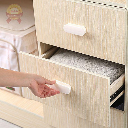 Tay nắm cửa thay thế siêu dính cho tủ lạnh quần áo gỗ cửa kính nhôm hình chữ nhật