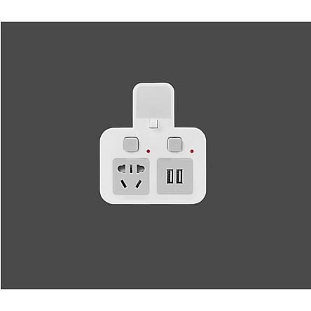Ổ cắm điện tích hợp cổng sạc và đèn ngủ cao cấp bảo vệ thiết bị cho ngôi nhà bạn với chức năng chống sét  - Tặng kèm 2 nút bảo vệ đầu sạc