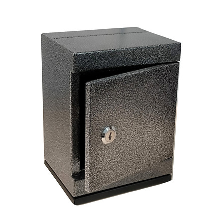 Két sắt mini khóa chìa đen tiết kiệm mini safe box black piggy bank