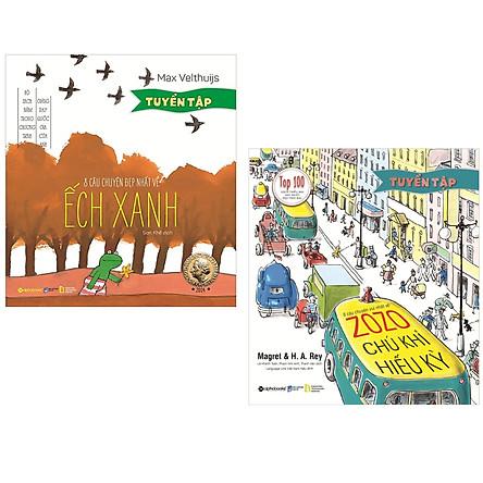 Combo Sách Tuyển Tập Những Câu Chuyện Hay Cho Bé : 6 Câu Chuyện Vui Nhất Về Zozo - Chú Khỉ Hiếu Kỳ + 8 Câu Chuyện Đẹp Nhất Về Ếch Xanh