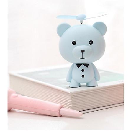 Quạt sạc tích điện cầm tay để bàn hình gấu có đèn LD713 Mini Fan (5W)