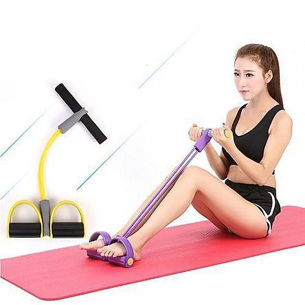 Dây Tập Thể Dục Đàn Hồi 4 Ống Cao Su Tập Thể Dục, tập Gym Tại Nhà
