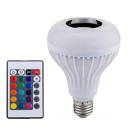 Loa Bluetooth Không Dây Tích Hợp Bóng Đèn LED E27 Thông Minh Kèm Điều Khiển Từ Xa