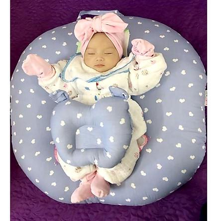 Gối chống trào ngược cho bé(Tặng kèm gối lõm cho bé)