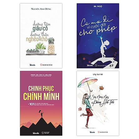 Combo 4 Sách:Dưỡng Tâm Giàu Có - Dưỡng Thân Nghèo Khó + Cứ Mơ Đi Vì Cuộc Đời Cho Phép + Chinh Phục Chính Mình + Sống Những Ngày Không Hối Tiếc
