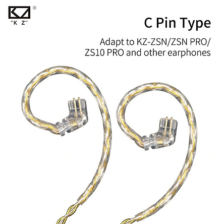 KZ ZS10/ZSTPRO/ZSNPRO Gold Silver Mixed Plated Upgrade Earphone Cable Detachable Headphones Wire Replacement Audio Cord Headphones Wire With 2PIN/MMCX Connector For SE846 Original KZ ZSN ZS10Pro AS10 AS06 ZST ES4 BA10 AS16 TRN V80 MMCX Pin Headphones