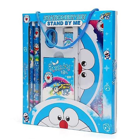 Bộ dụng cụ học tập 7 món mèo Doraemon cho bé