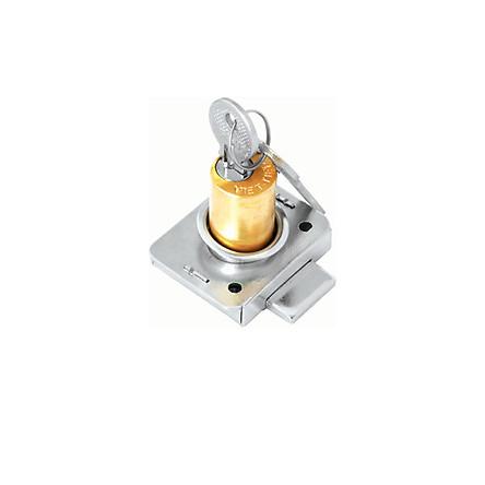 Ổ khoá tủ Việt Tiệp 03201 làm từ chất liệu đồng inox màu vàng trắng dùng cho các loại cửa tủ bằng gỗ
