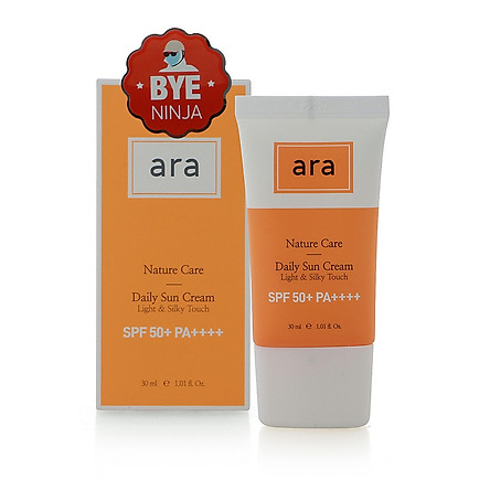 Kem chống nắng ARA Nature Care Daily Sun Cream Light & Silky Touch SPF 50+ PA++++