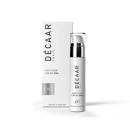 Kem giảm mụn giảm nhờn Decaar Anti Acne Cream 24hr 50ml