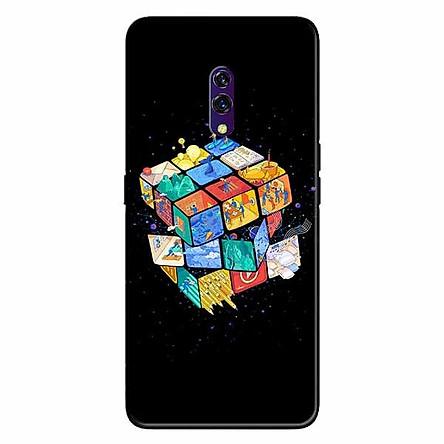 Ốp lưng in cho Realme X Rubik Vũ Trụ
