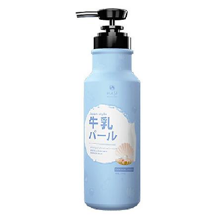 Sữa tắm Hasi Kokeshi dưỡng ẩm, trắng da chiết xuất Sữa bò và Ngọc trai - White & pure spa shower milk with Cow milk and Pearl Extract