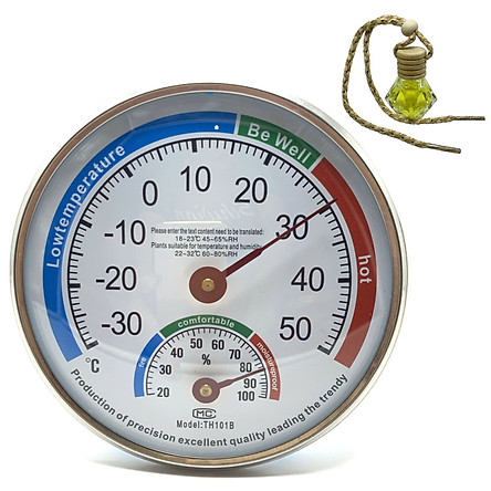 Đồng hồ đo nhiệt độ và độ ẩm TH101B - Tặng 1 lọ tinh dầu treo trong nhà