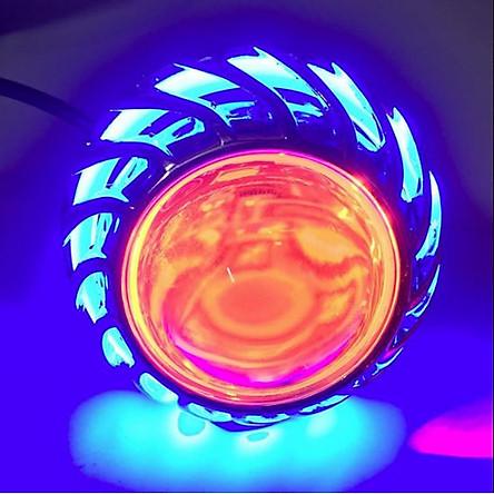 Đèn Pha Led Gương Cầu Lốc Xoáy A6 + Tặng 1 Đèn lazer đuôi xe ô tô, xe máy chống sương mù