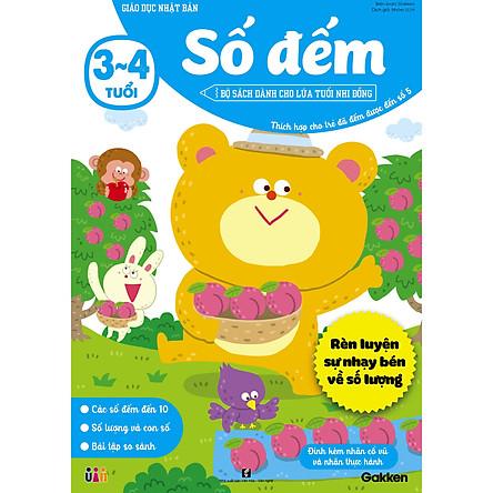 Số đếm (3~4 tuổi) - Giáo dục Nhật Bản - Bộ sách dành cho lứa tuổi nhi đồng - Thích hợp cho trẻ đã đếm được đến số 5