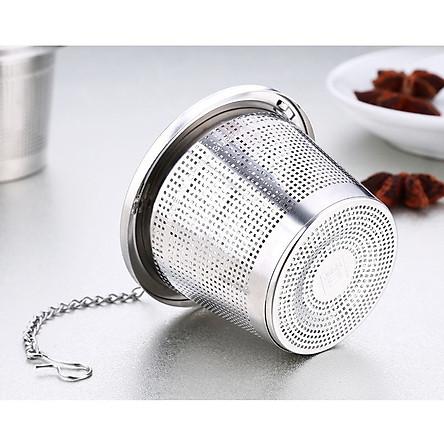Dụng cụ lọc trà thả ấm inox 304 -  4x4.5cm 16g