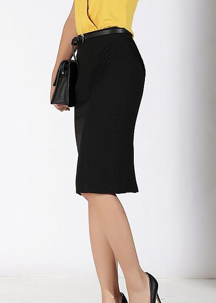 Váy BC 2L xếp ly 2 bên đen