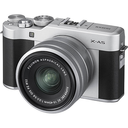 Máy Ảnh Fujifilm X-A5 Kit XC15-45mm f3.5-5.6 OIS (Bạc) + Thẻ Nhớ Sandisk 16GB Tốc Độ 48MB/s + Túi Đựng Máy Ảnh Fujifilm - Hàng Chính Hãng