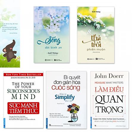 Combo 5 cuốn: Sức Mạnh Tiềm Thức, Làm Điều Quan Trọng, Thả Trôi Phiền Muộn, Sống Đời Bình An, Bí Quyết Đơn Giản Hóa Cuộc Sống (Kèm bookmark danh ngôn hình voi)