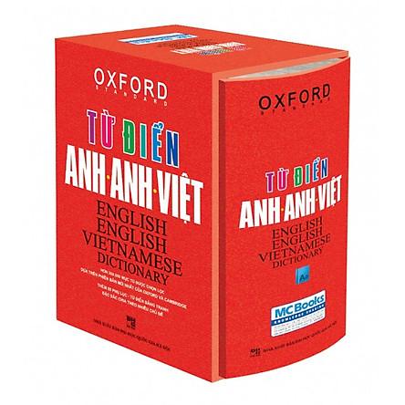 Từ điển Anh Việt bìa đỏ cứng Tái bản mới nhất - Sách học từ vựng Tiếng Anh Học nhanh Nhớ lâu  Giấy nhớ PS