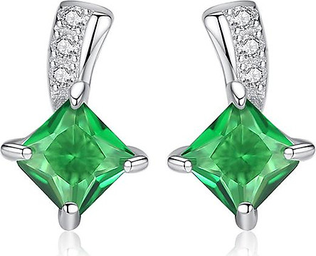 Bông tai nữ hàn quốc cá tính bằng bạc 925 ý đính đá cao cấp thật cho nữ B1462 Bảo Ngọc Jewelry