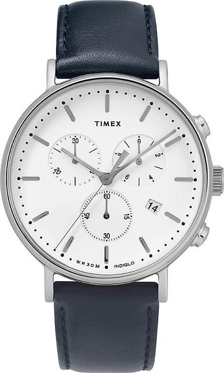 Đồng Hồ Dây Da Nam Timex Fairfield Chronograph 41mm Leather Strap Watch - TW2T32500