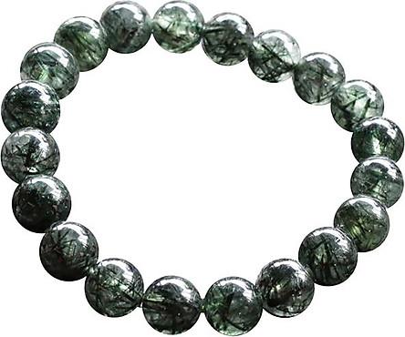 Vòng Thạch Anh Tóc Xanh Đậm Myanmar 10mm Ngọc Quý Gemstones VT132