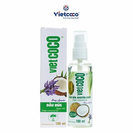 Dầu dừa nguyên chất Vietcoco vòi xịt 100ml - hương Lavender