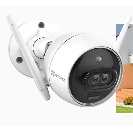 Camera IP Wifi Ngoài Trời Ezviz C3X Bản Mắt Kép Có Màu Ban Đêm Full HD 1080P Tặng Phíc Cắm Âm - Hàng Chính Hãng