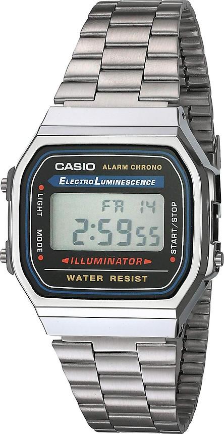 Đồng Hồ Đeo Tay Điện Tử Casio Illuminator A168WA-1 - Màu Bạc - Pin 7 Năm