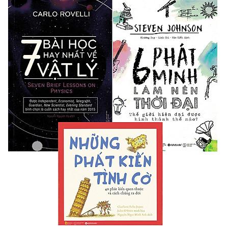 Bộ Sách Cực Hay Về Kiến Thức Khoa Học Tự Nhiên Và Những Phát Minh Nổi Tiếng ( 7 Bài Học Hay Nhất Về Vật Lý + 6 Phát Minh Làm Nên Thời Đại + Những Phát Kiến Tình Cờ ) tặng kèm bookmark Sáng Tạo