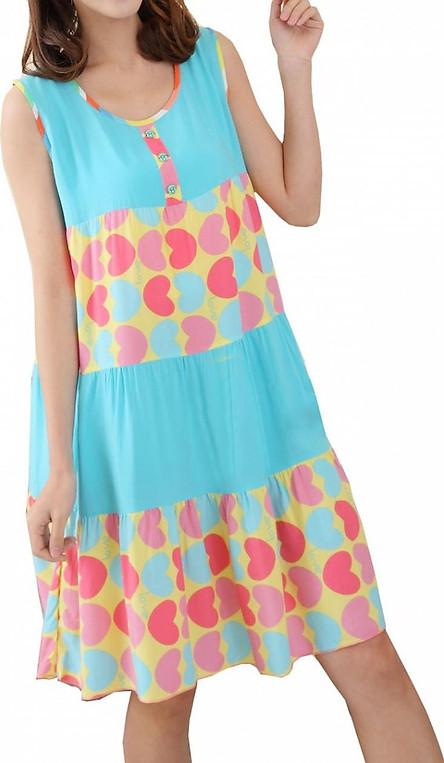 Váy suông Big size dáng rộng chất lanh mát mịn cho quý cô ( LANH TIM)