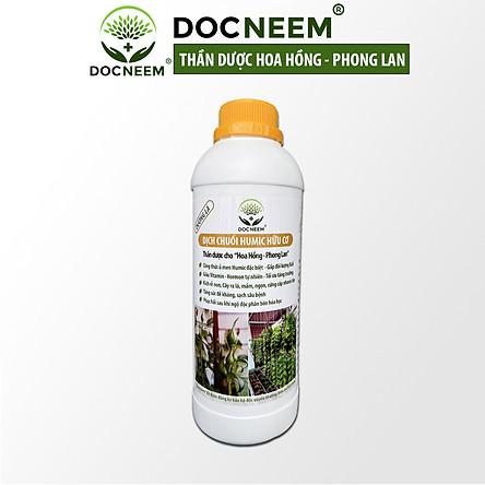 Phân bón hữu cơ dịch chuối DOCNEEM, phân bón cho phong lan, hoa hồng, cây cảnh kích rễ, kích kei, chồi, mầm, chai 1 lít