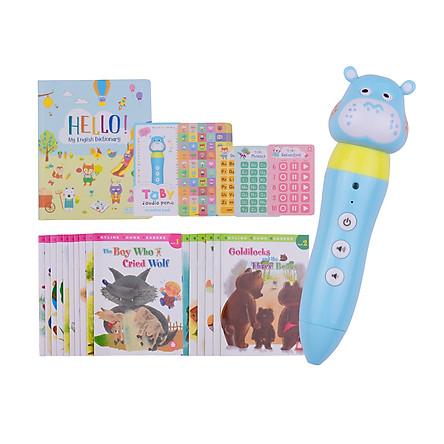 iQ House Cartoon Audio Pen Set Intelligent Reading Pen Early Education with Vocabulary Book/Storybooks/Audio Reading