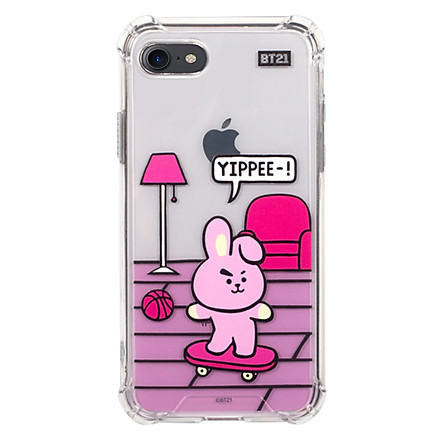 Ốp điện thoại iPhone/Samsung BT21 Roomies Clear Slim Bumper Case for iPhone/Galaxy