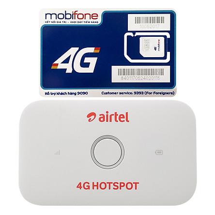 Bộ Phát Wifi Di Động Huawei E5573Cs-609 4G 150Mbps - Hàng Nhập Khẩu + Sim 3G/4G Mobifone Nghe Gọi Tặng 2GB/Ngày
