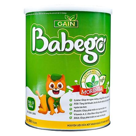 Sữa mát tăng cân, cải thiện biếng ăn và táo bón Babego từ 0 - 12 tháng, 800G